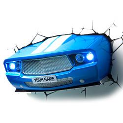 Sport auto 3D Muurlamp