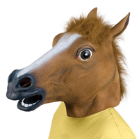 Paardenkop masker, bekend van 9gag en youtube pranks.