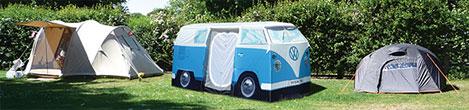 kamperen met deze mooie volkswagen t1 camper tent